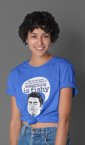 Something is Fishy Unisex T-shirt - ateedude