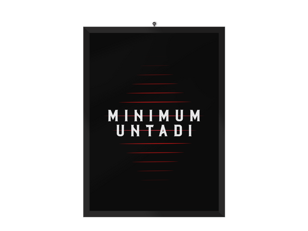 Minimum Untadi Poster