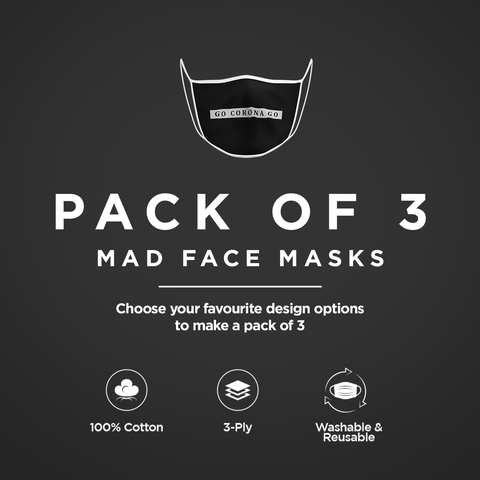 Pack of 3 Face Masks - ateedude