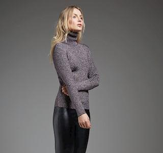 Lurex Turtle Neck Sweater