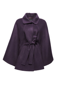 Sentaler Collar Cape in Violet