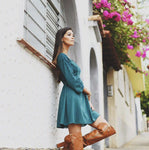 Green Long Sleeve Dress | Small |
