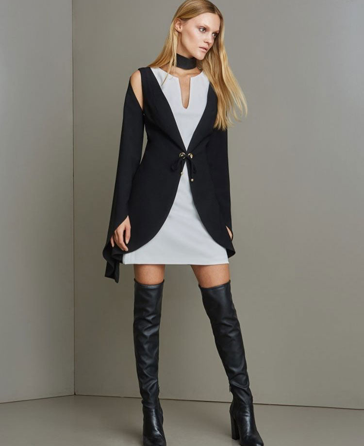 Black & White Blazer Dress