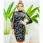 Black Embroidery Lace Dress | Small |