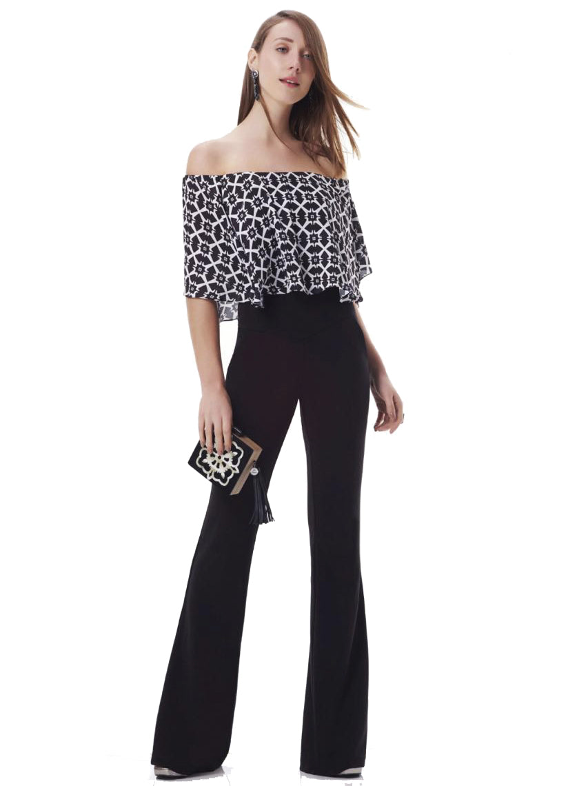 Black & White off shoulder jumpsuit
