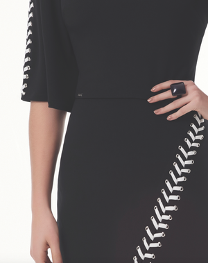 Black & White Two Piece w/ Flare Sleeves | Small |
