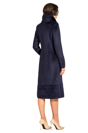 Fitted Coat w/Ribbed Bottom and Cuffs