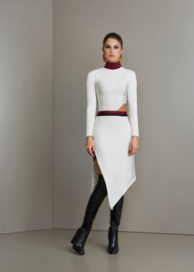 White bandage long sleeves dress