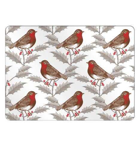 Robin & Holly Placemat Set of Four - Thornback & Peel