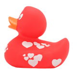 Red Duck With White Hearts