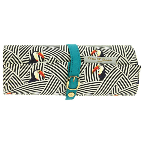 Yvonne Ellen Jewellery Roll, Black/White