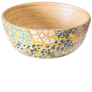 Medium Eggshell Spun Bamboo Bowl