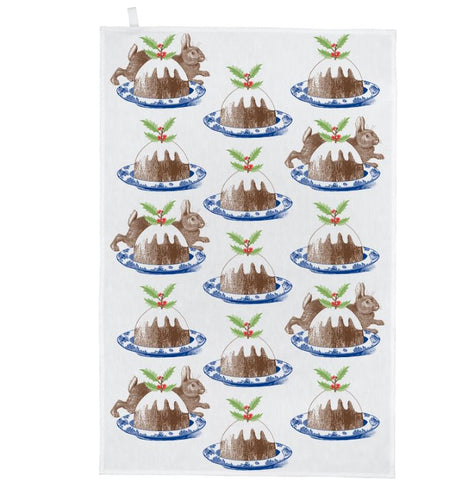 Christmas Pudding Tea Towel - Thornback & Peel