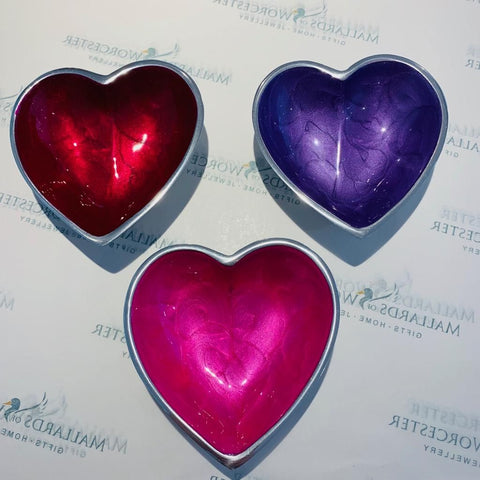 Recycled Aluminium Pearlescent Effect Heart Dish