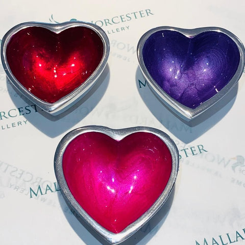 Mini Recycled Aluminium pearlescent effect Heart Dish