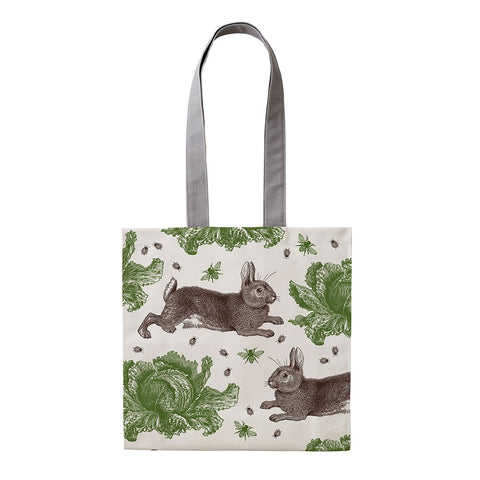 Classic Rabbit & Cabbage Tote Bag - Thornback & Peel