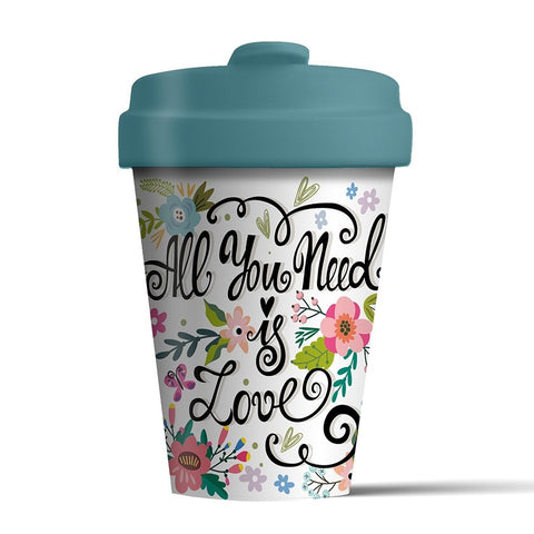 ALL YOU NEED IS LOVE - Bamboo Flask
