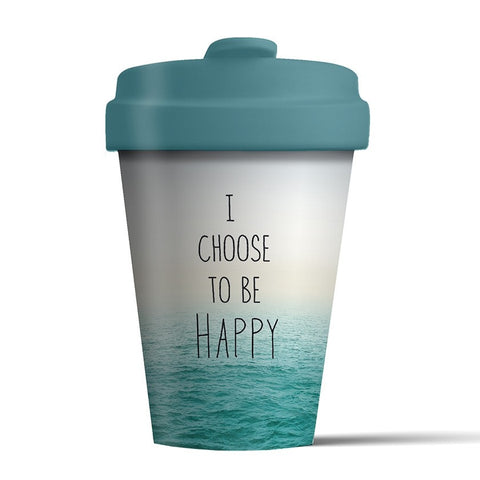 CHOOSE HAPPY - Bamboo Flask