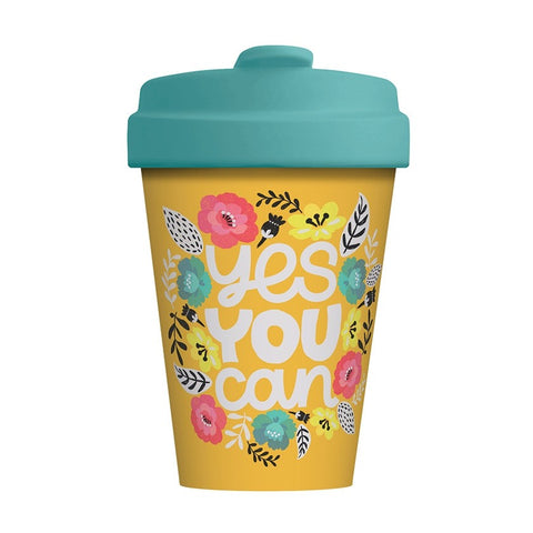 YES YOU CAN - Bamboo Flask