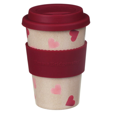 Emma Bridgewater Pink Hearts Rice Husk Travel Cup