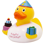 White Happy Birthday Duck