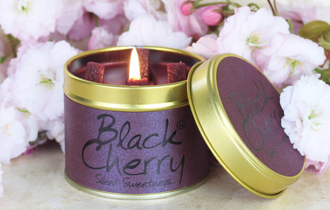 Black Cherry Scented Candle - Lily Flame