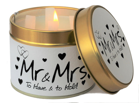 Mr & Mrs Scented Candle - Lily Flame