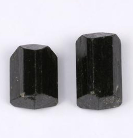 AA++Black Tourmaline Double Terminated Crystals