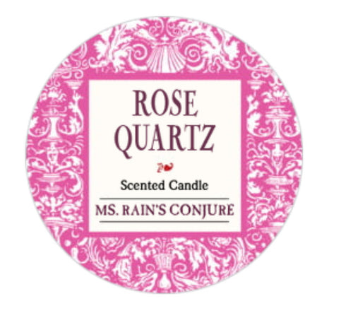 Rose Quartz Loaded Candle