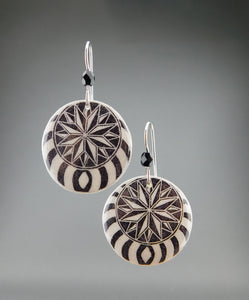 Black Goose Egg Shell Jewelry - Nautilus Earrings