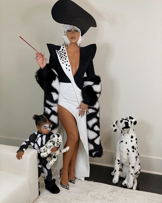 Khloe Kardashian is Cruella DeVil