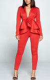 Hot Peplum Suit
