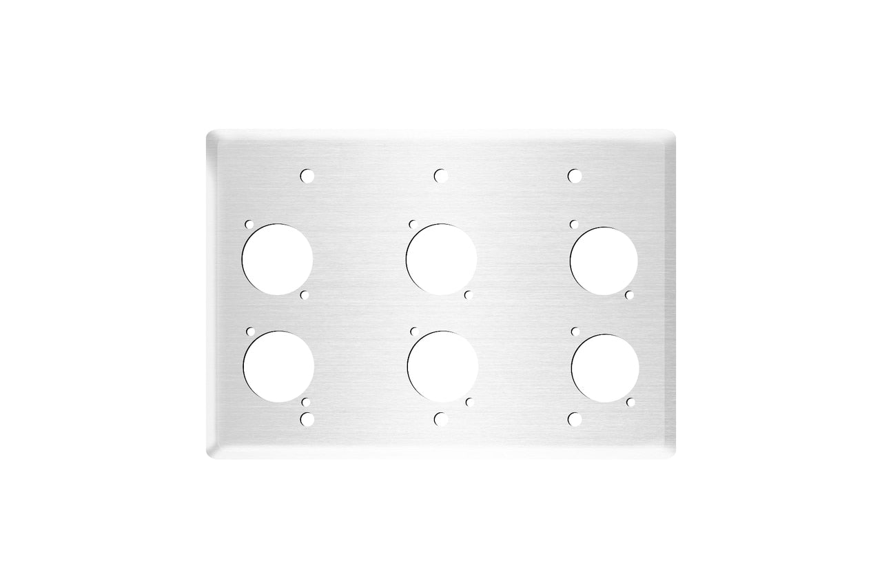 Elite Core EC-3G-6D-S Stainless Triple Gang Wall Plate