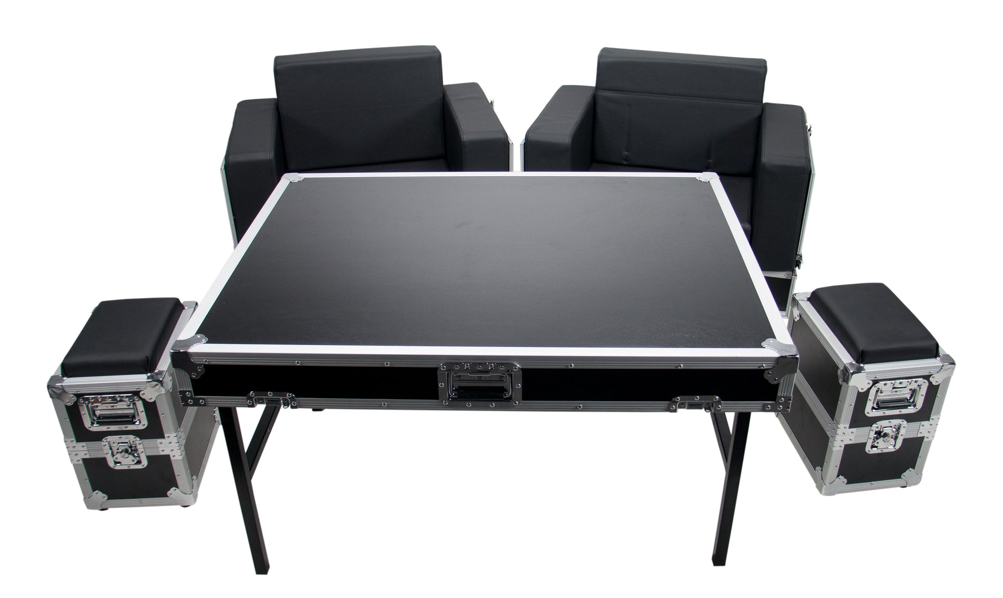 OSP ATA-GR-SET1-BLK Green Room Furniture Set  - Black with Black Cushions