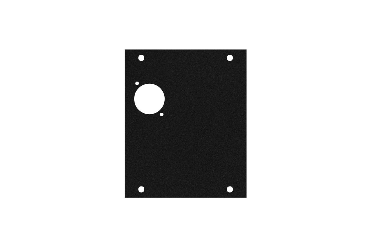 Elite Core ACE-PNL100-1D Black Metal Panel for Half Stage Pocket with 1 D-Series Punch-Out