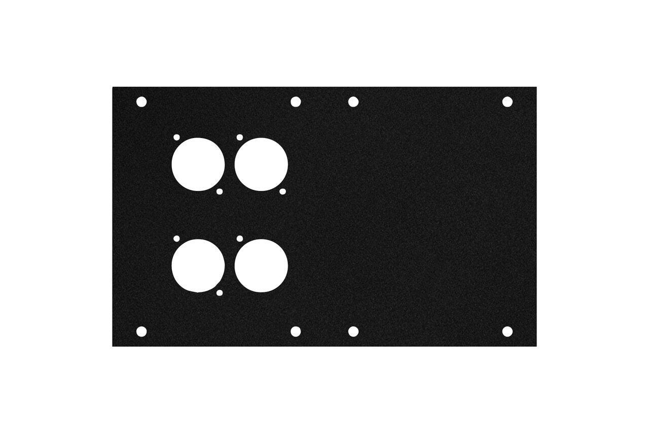 Elite Core ACE-PNL120-4D Black Metal Panel for Full Stage Pocket with 4 D-Series Punch-Outs