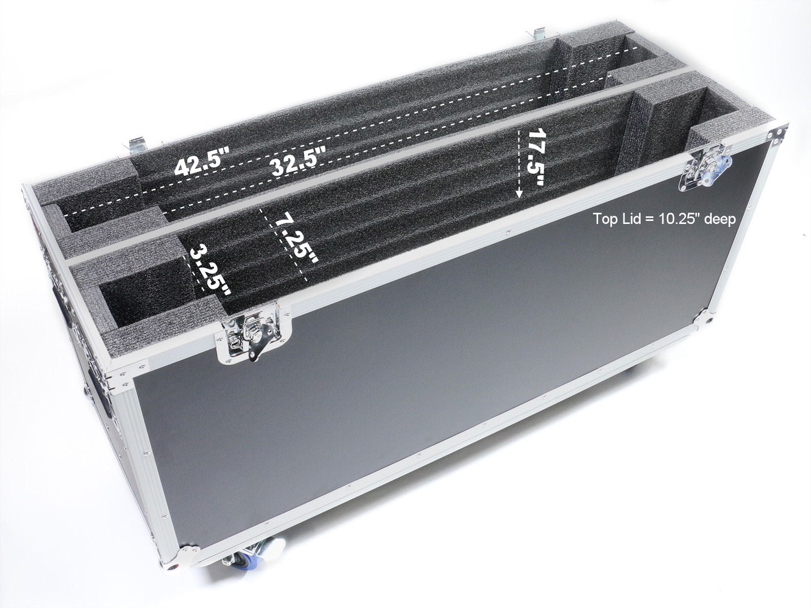 "OSP ATA-LED-46X2  Adjustable ATA Case for  Two 46"" LED Screens"