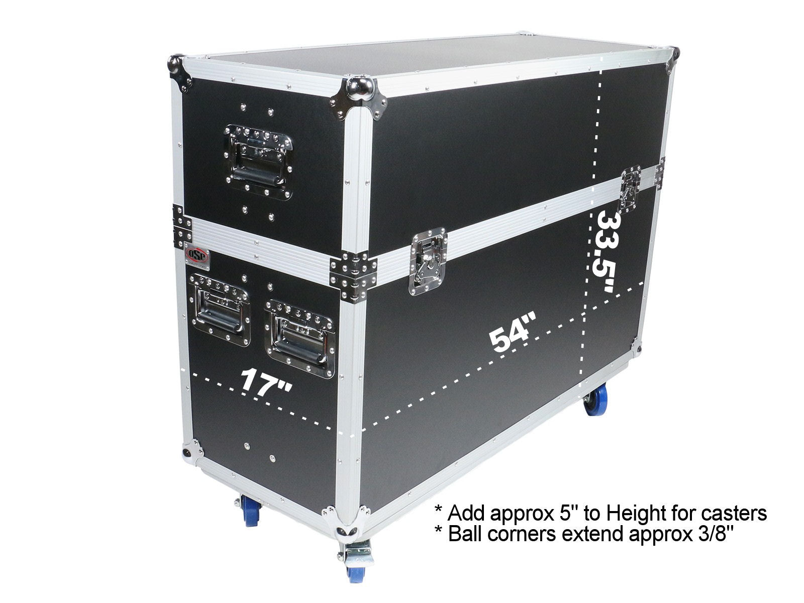 "OSP ATA-LED-55X2  Adjustable ATA Case for Two 55"" LED Screens"