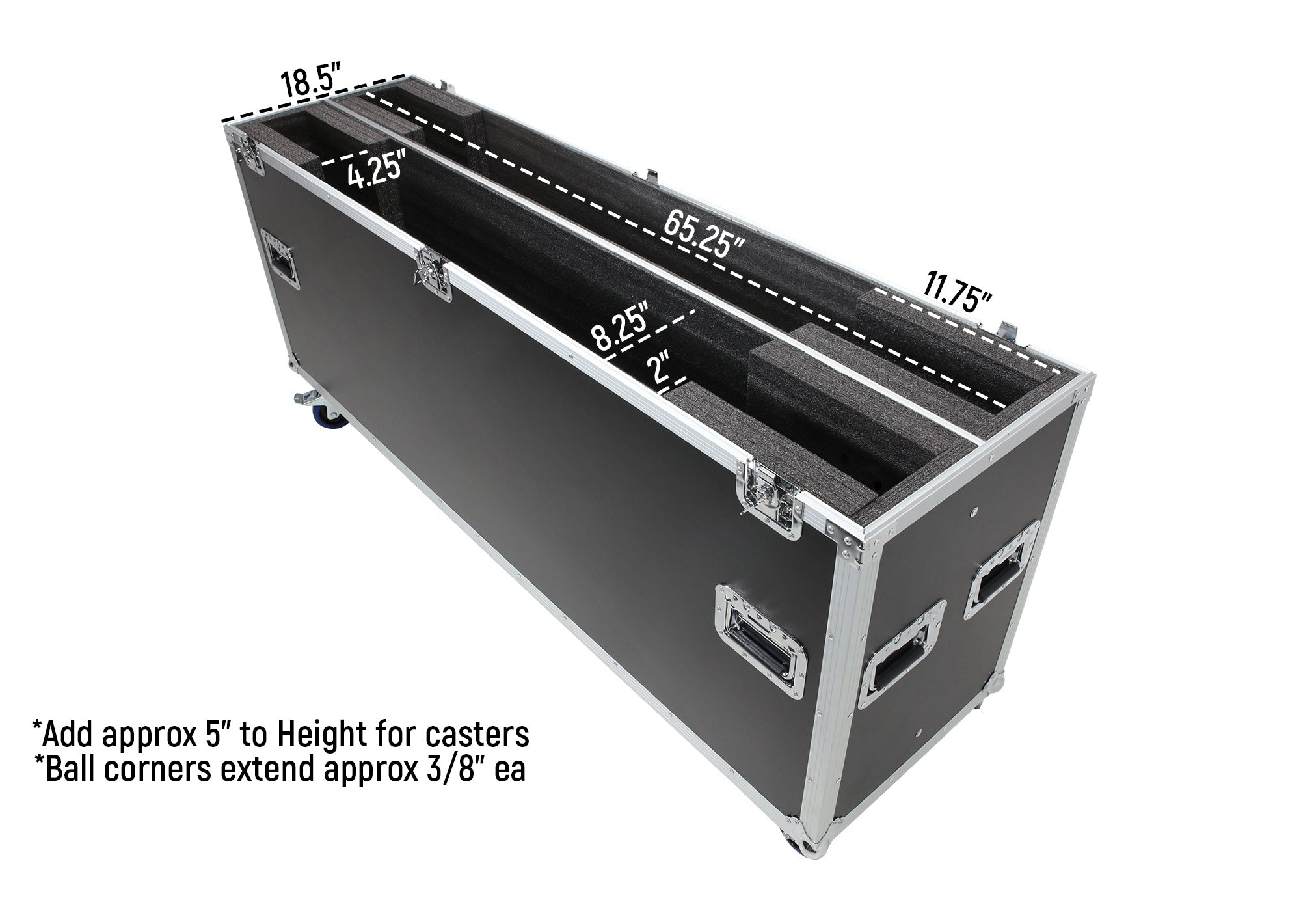 "OSP ATA-LED-70X2 Case for Two 70"" LED Screens"