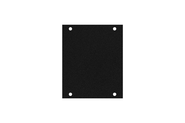 Elite Core ACE-PNL100-BLANK Black Metal Panel for Half Stage Pocket
