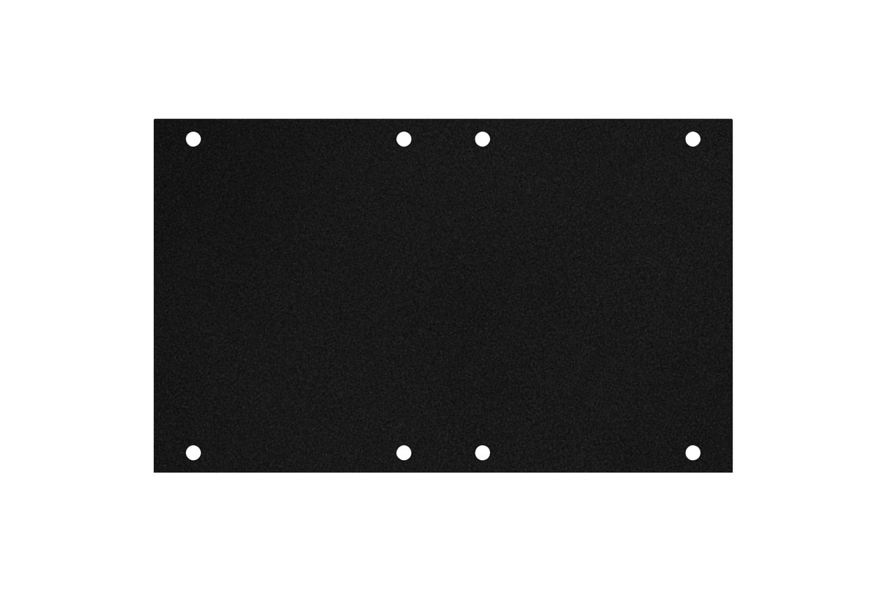 Elite Core ACE-PNL120-BLANK Black Metal Panel for Full Stage Pocket