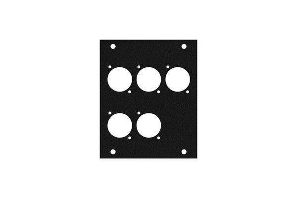 Elite Core ACE-PNL100-5D Black Metal Panel for Half Stage Pocket with 5 D-Series Punch-Outs