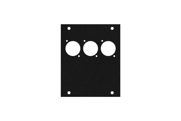 Elite Core ACE-PNL100-3D Black Metal Panel for Half Stage Pocket with 3 D-Series Punch-Outs