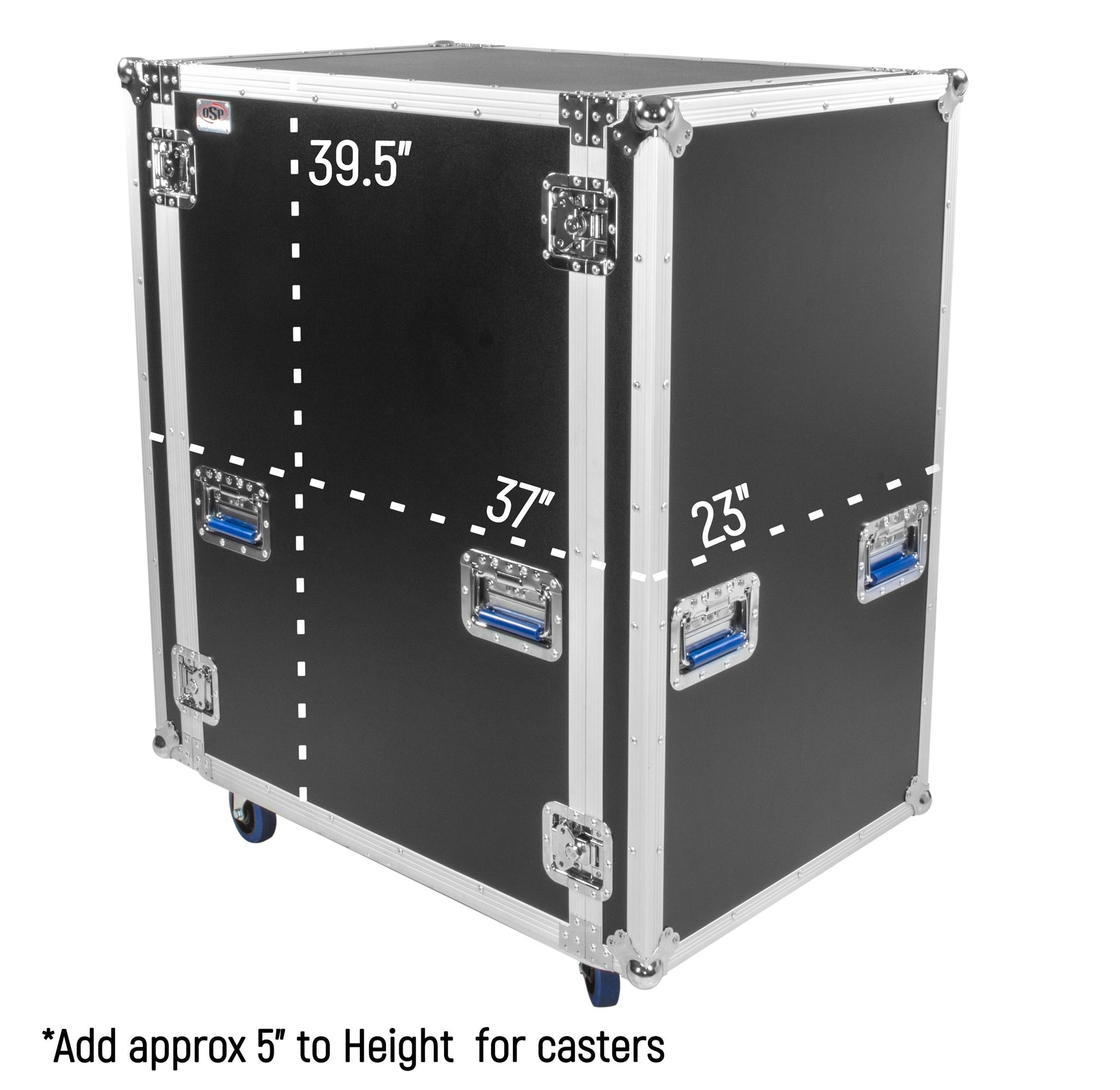 OSP SC20U-28 20 Space ATA Shock Amp Rack Case w/Casters