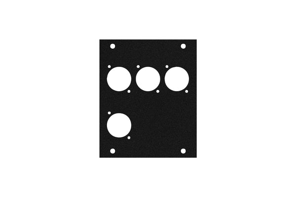 Elite Core ACE-PNL100-4D Black Metal Panel for Half Stage Pocket with 4 D-Series Punch-Outs