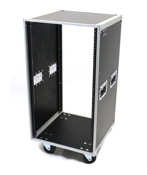 OSP KD16U 16 Space Deluxe Studio Rack With Handles and Casters