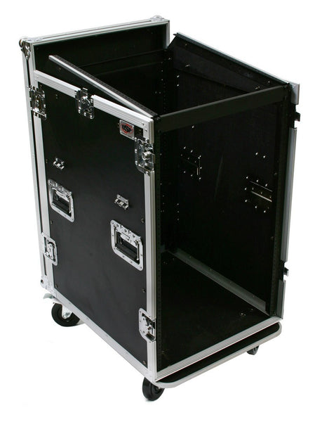 OSP MC12U-16SL 16 Space ATA Mixer/Amp Rack 12 Space Depth and Standing Lid