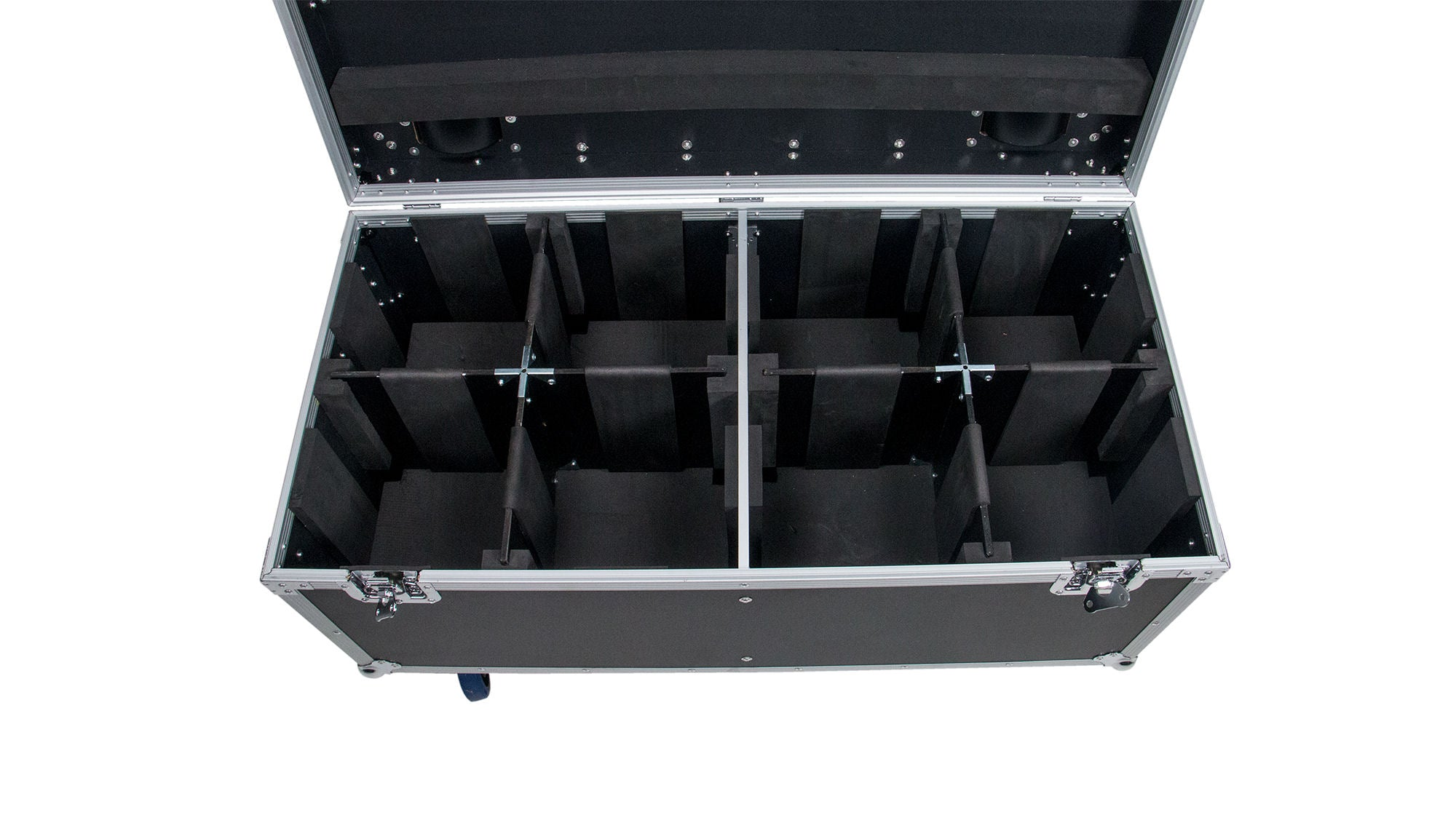 OSP PAR-CASE-8C ATA Universal Flight Case for 8 LED PAR CANS, * Upgraded with Casters & Caster Cups *