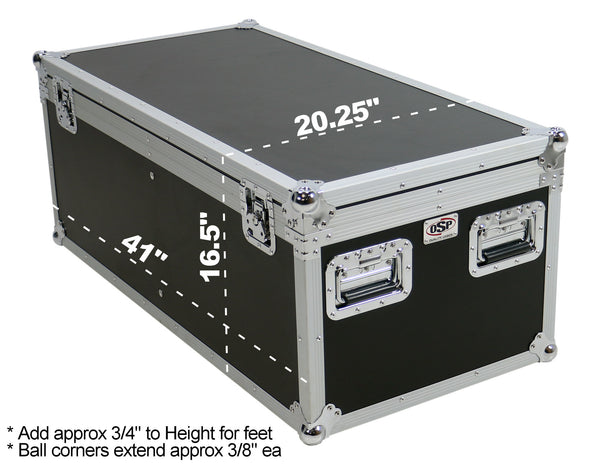 OSP PAR-CASE-8 ATA Universal Flight Case for 8 LED Par Can Lights *Old Model - No Casters*