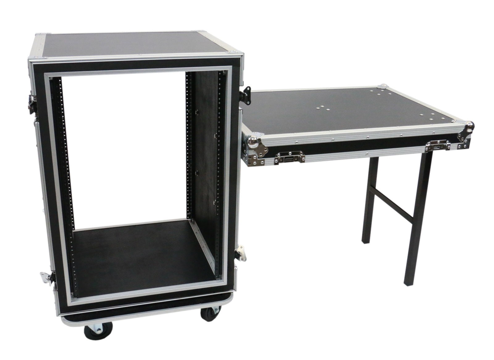 OSP SC16U-20SL 16 Space ATA Amp Rack w/Casters and Attached Utility Table